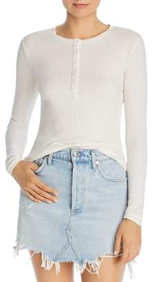 ATM Anthony Thomas Melillo Ribbed Henley Top