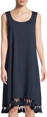 Tassel-Hem T-Shirt Dress