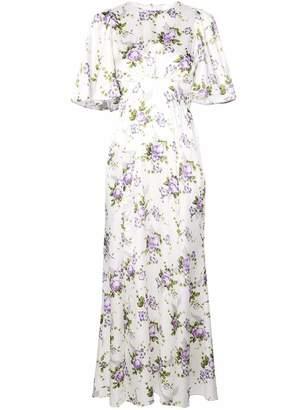 Les Rêveries Petal Silk Midi Dress
