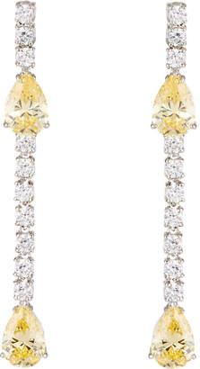 FANTASIA Linear Teardrop Cubic Zirconia Earrings