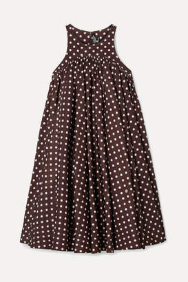 Calvin Klein Polka-dot Twill Mini Dress - Brown