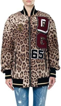 Dolce & Gabbana Printed Nylon Bomber Jacket