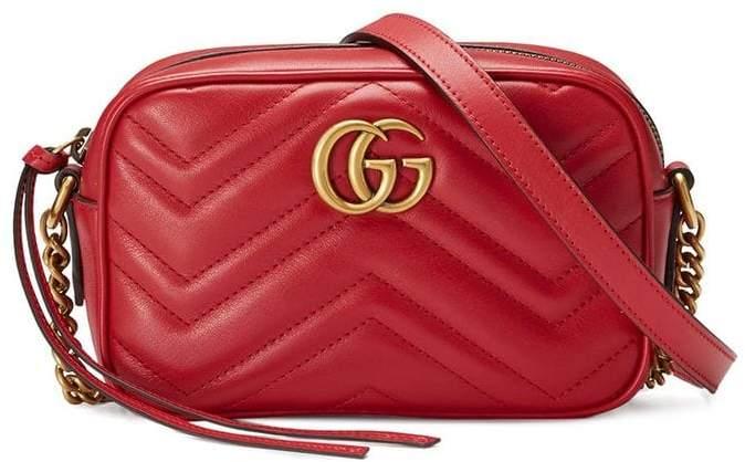 ca1093314356b5 Gucci GG Marmont matelassé mini bag - ShopStyle Shoulder