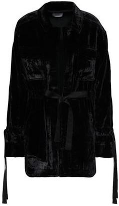 Cinq à Sept Tie-detailed Velvet Jacket