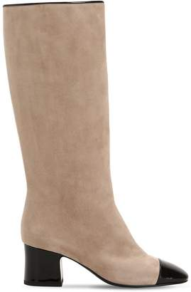 Aand 60MM SUEDE & PATENT LEATHER TALL BOOTS