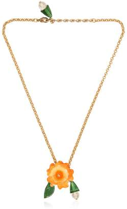 Dolce & Gabbana Orange Flower Pendant Necklace