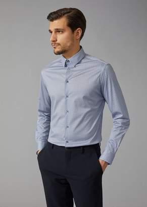 Giorgio Armani Cotton Shirt With Small Point Collar