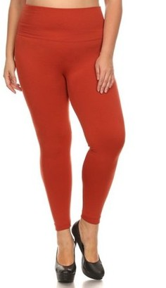 K-Cliffs Lady's Full Length Seamless FLEECE Leggings, Plus Size/One Size (Usually fits sizes 12-16), Copper