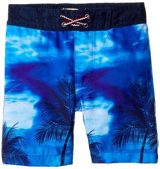 Appaman Kids Palm Tree Print Swim Trunks Boy's Swimwear