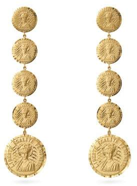 Anissa Kermiche Louise Dinfinie 18kt Gold Coin Earrings - Womens - Gold