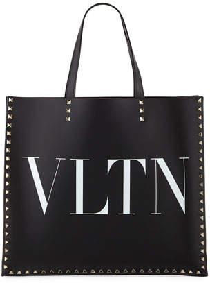 Valentino VLTN Rockstud Leather Tote Bag
