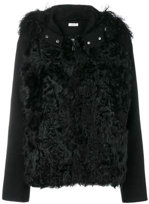 P.A.R.O.S.H. textured fur jacket
