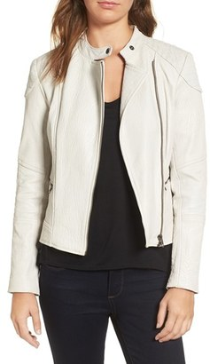 Women's Cupcakes And Cashmere Chaney Leather Jacket $425 thestylecure.com