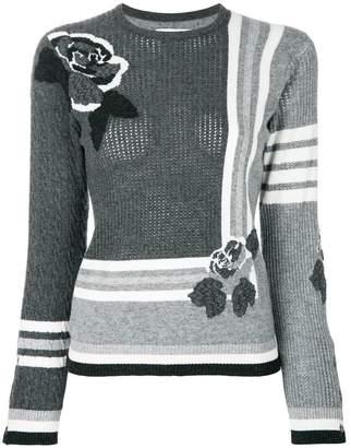 Thom Browne Rose Instarsia Cashmere Pullover