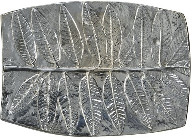 Leaf Imprint Metal Soap Dish