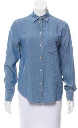 Hope Chambray Button-Up Top w/ Tags