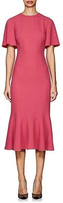 Dolce & Gabbana Women's Flounce-Hem Cady Sheath Dress - Pink