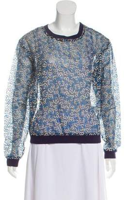 Manoush Sheer Embroidered Sweatshirt