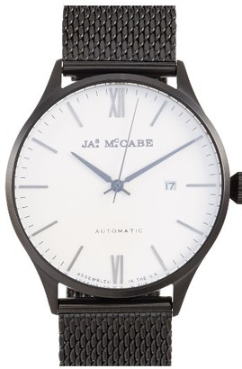 Men's James Mccabe London Automatic Mesh Strap Watch, 43Mm $410 thestylecure.com