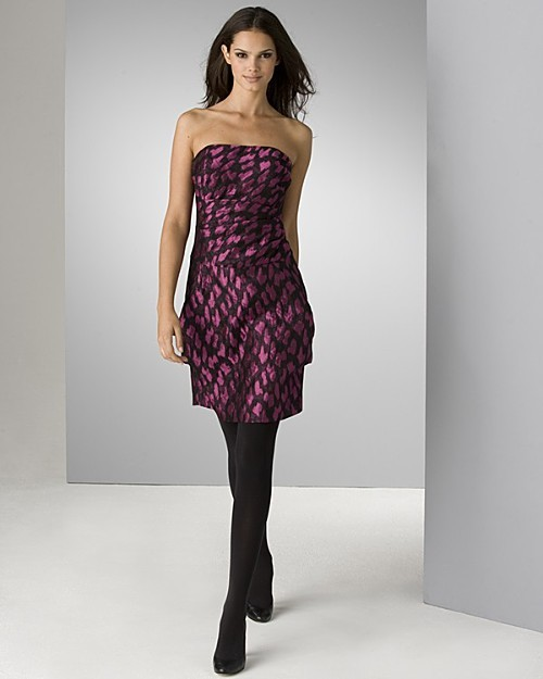 Julie Haus Women's Siren Silk Strapless Dress