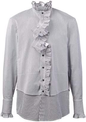 Bmuet(Te) ruffled placket layered shirt