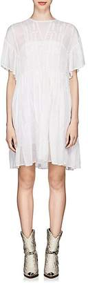Etoile Isabel Marant Women's Annaelle Embroidered Cotton Smock Dress - White