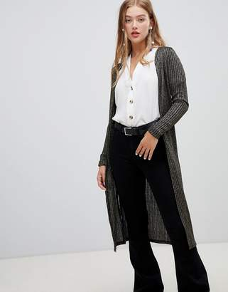 New Look metallic midi cardigan