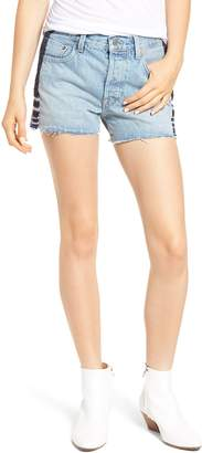 Levi's TM) 501(R) Embroidered Cutoff Denim Shorts