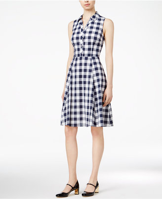 Maison Jules Cotton Gingham Shirtdress, Only at Macy's $79.50 thestylecure.com