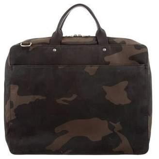 Jack Spade Leather-Trimmed Canvas Briefcase