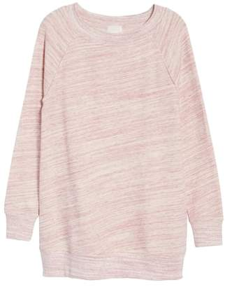 Caslon Space Dye Tunic Sweatshirt