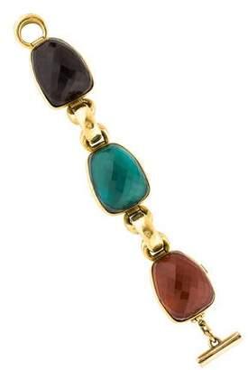 Vaubel Three Large Stone & Chain Bracelet