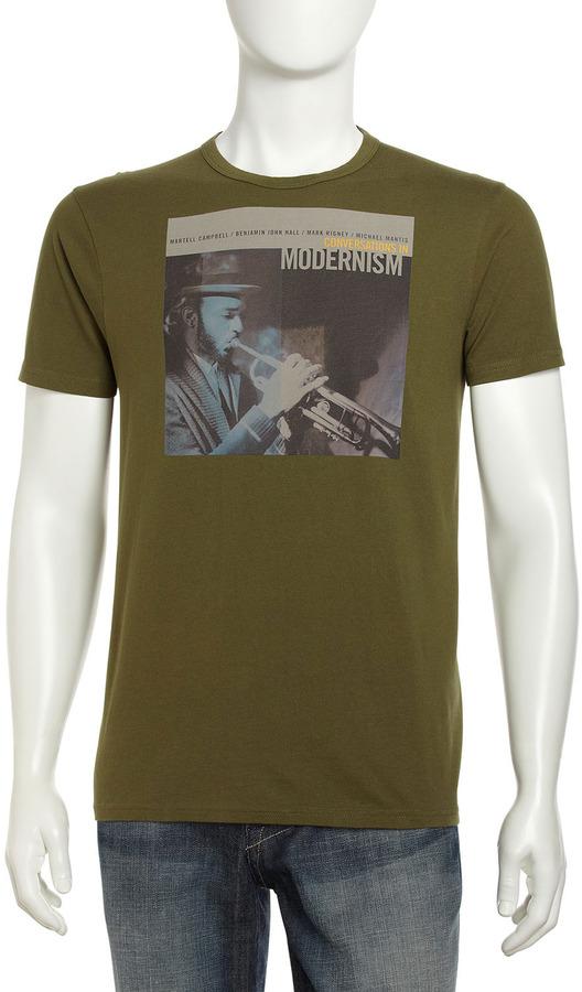 Ben Sherman Graphic Jazz Tee, Olive