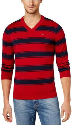 Tommy Hilfiger Mens Knit Long Sleeves Pullover Sweater Red L