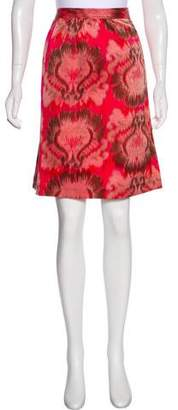 Tory Burch Printed Knee-Length Skirt