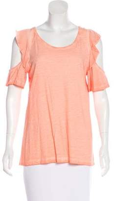 Sanctuary Cold-Shoulder Flounce Top w/ Tags