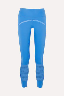 adidas by Stella McCartney Parley For The Oceans Training Believe This Cutout Stretch Leggings - Blue