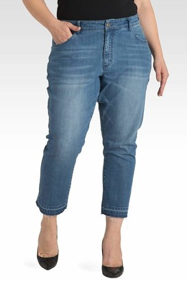 Standards & Practices Light Wash Cropped Premium Jeans in Blue Size 14R