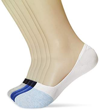 KOSY KOMFORT Mens No Slip Cotton 6-Pack Low Cut No Show Socks FIT 6-9