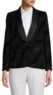 Marc Jacobs Embellished Shawl-Collar Blazer