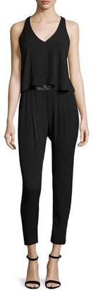 Ella Moss Sleeveless Strappy-Back Jumpsuit, Black $258 thestylecure.com