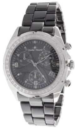 Mother of Pearl Stella Maris Women's Wrist Watch - Analog Quartz - Premium Ceramic Strap - Mother-of-pearl Dial - Diamonds and Swarovski Elements - STM18SM24
