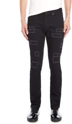 Saint Laurent Black Distressed Jeans