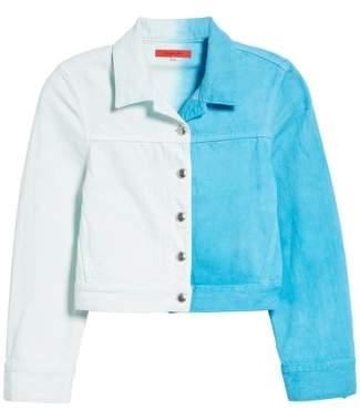 Eckhaus Latta Cropped Denim Jacket