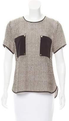 Veronica Beard Silk-Blend Knit Top