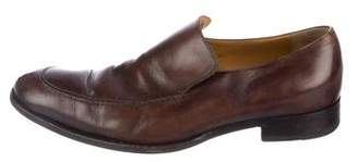Gucci Leather Round-Toe Loafers
