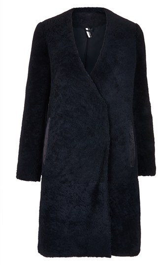 Topshop 'The Collection Starring Kate Bosworth' Genuine Shearling Coat