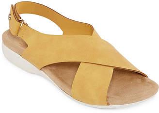ST. JOHN'S BAY Womens Zolo Slingback Strap Flat Sandals