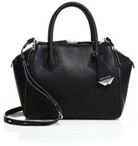 Rebecca Minkoff Mini Perry Leather Satchel $395 thestylecure.com