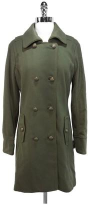 Charlotte Ronson - Military Green Wool Coat Sz 6